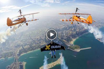 پرواز با جت من در آسمان دبی