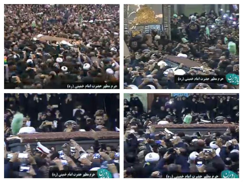 هاشمی در حرم امام