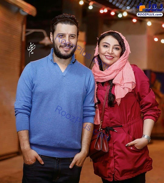 عزتی و همسرش