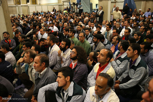 دیدار جمعی از کارگران سراسر کشور با رهبر انقلاب