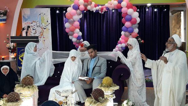 جشن ازدواج آسان ۴۷ زوج در سپاه نینوا گلستان برگزار شد