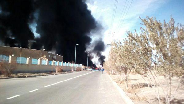 فیلم / آتش سوزی در شهرک شکوهیه قم