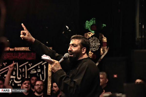 مداحی حاج مهدی مختاری در شب اول محرم/فیلم