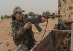 فیلم/ مرینات نظامی زنان ارتش سوریه