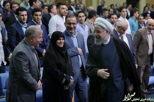عکس/ خوش و بش علی پروین و روحانی