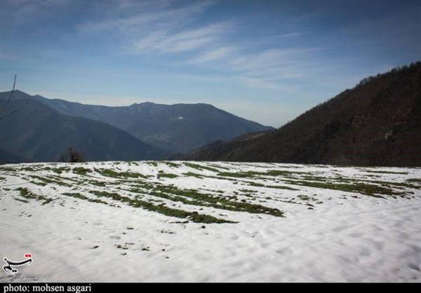 سفیدپوش شدن ارتفاعات استان گلستان به روایت تصویر