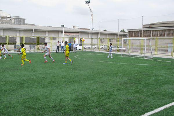 افتتاح چمن مصنوعی مجموعه ورزشی آموزش و پرورش گنبدکاووس