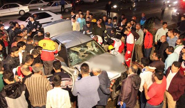جاده گرگان به کردکوی باز هم حادثه آفرید/ برخورد پژو و سمند و مجروح شدن ۷ نفر در بریدگیهای غیراستاندارد جاده گرگان به کردکوی