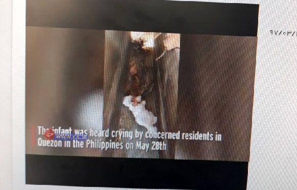 نوازد تازه متولد شده در قبرستان! + عکس
