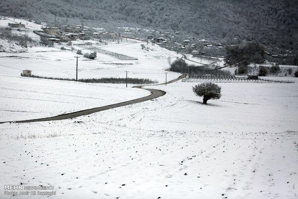 بارش برف محورهای مواصلاتی ۵ روستای رامیان را مسدود کرد