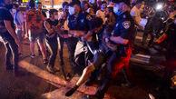 فیلم/ زد و خورد شدید معترضان و پلیس صهیونیستی