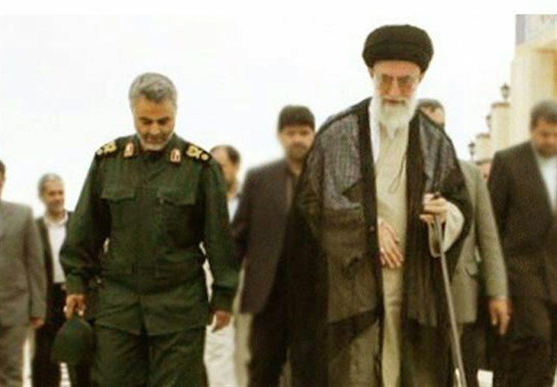 همراهی سردار سلیمانی با رهبر معظم انقلاب