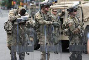 فیلم/ ایست بازرسی گارد ملی در واشنگتن