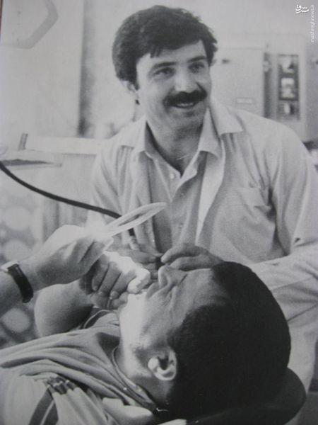 عکس/ علی پروین در دندانپزشکی دکتر زادمهر