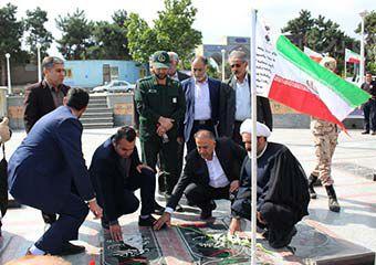 تصاویر/ غبار روبی گلزار شهداء توسط فرماندار جدید گرگان