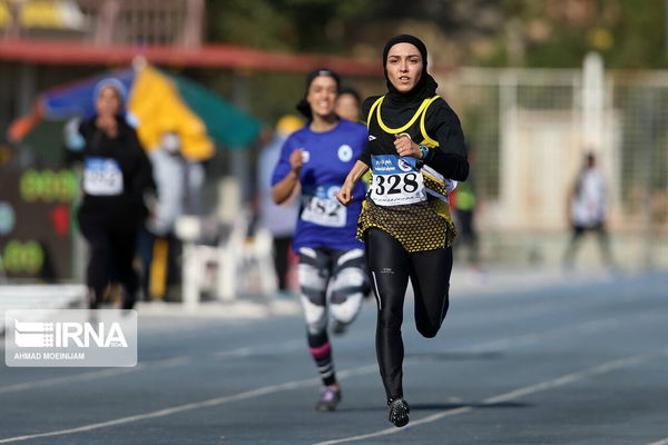 درخشش زنان گلستان در مسابقات دوومیدانی قهرمانی کشور
