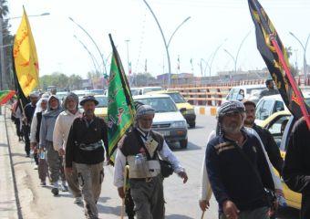 تصاویر / زائران پیاده عراقی امام رضا (ع) در گرگان