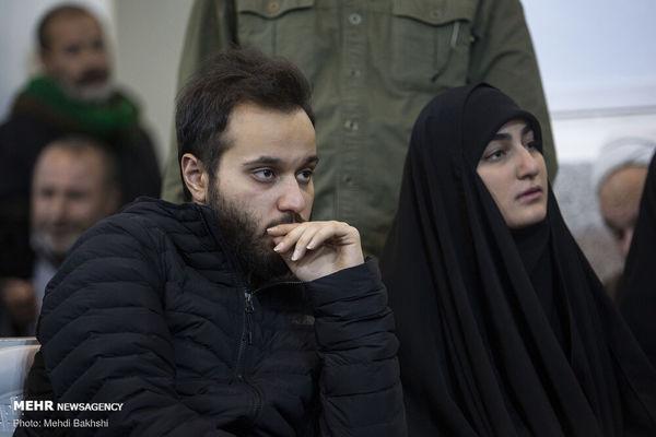 فرزندان شهید سلیمانی در مراسم چهلمین روز شهادت سردار + عکس