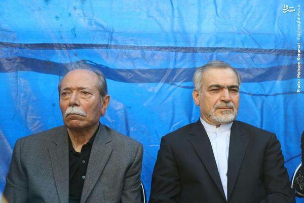 عکس/ حسین فریدون در مراسم تشییع مرحوم رشیدی