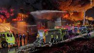 فیلم/ آتش سوزی مهیب در حومه لس آنجلس