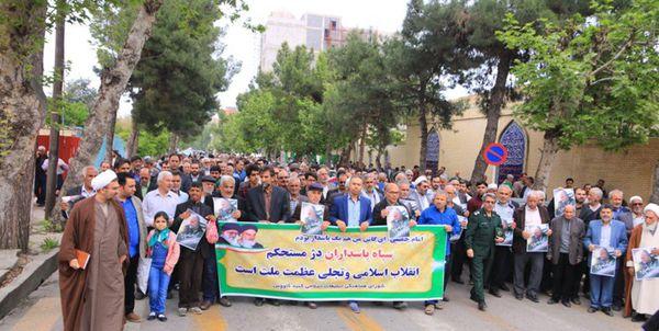 راهپیمایی دشمنشکن مردم گنبدکاووس در حمایت از سپاه+ تصاویر