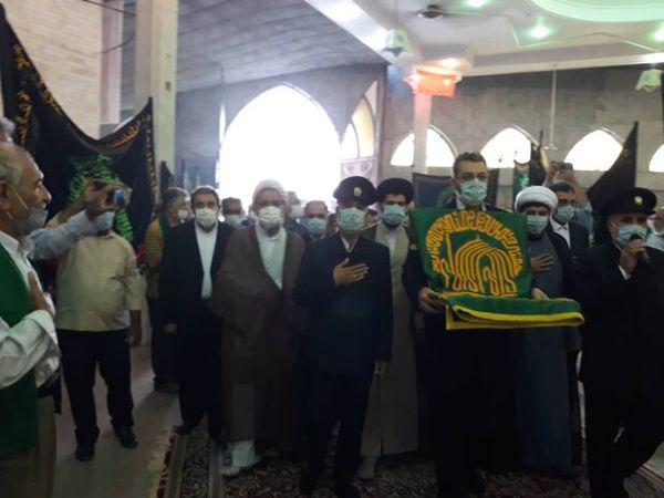 رعایت ملاحظات بهداشتی دراستقبال از خدام رضوی/ماسک رایگان توزیع شد