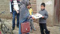 توزیع 30 بسته لوازم التحریر در بین دانش آموزان سیل زده افغان آباد گنبد کاووس