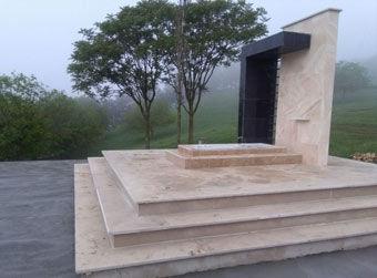 پایان کار ساخت بنای یادبود شهید گمنام گلیداغ + تصاویر