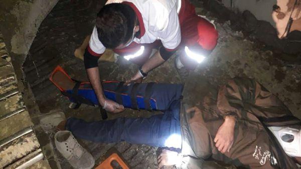 سقوط از ارتفاع مردی را راهی بیمارستان کرد