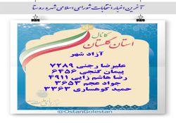 نتایج نهایی انتخابات شورای شهر آزادشهر