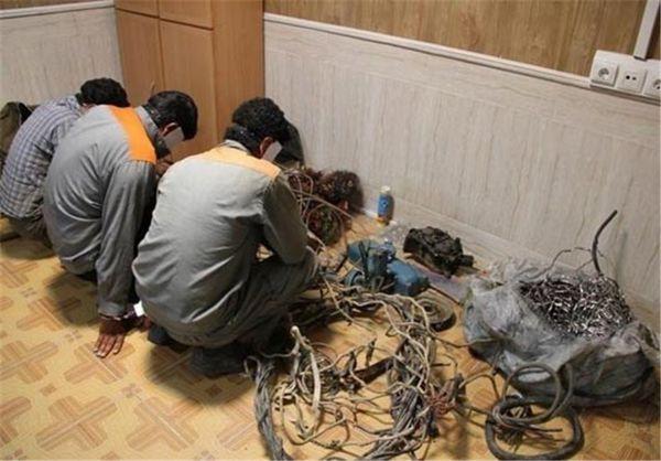 سارق حرفهای کابل برق در گلستان دستگیر شد