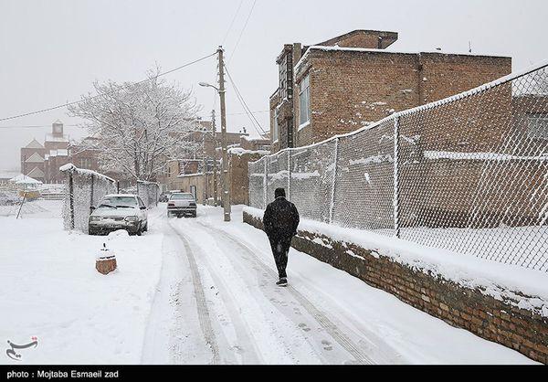 بارش برف و باران در ۲۳ استان