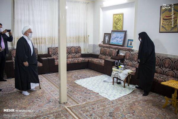 عکس/ دیدار با مادر شهید تقدیر شده از سوی رهبرانقلاب