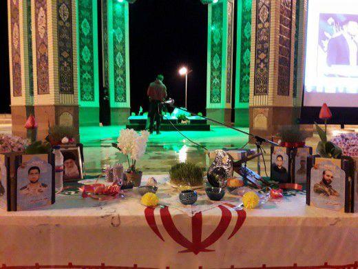 آیین معنوی نور و نوروز در بقاع متبرکه و گلزار شهدای گلستان برگزار شد