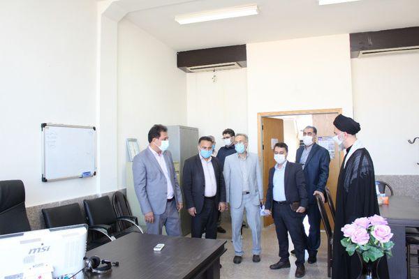 بازدید رئیس دانشگاه آزاد اسلامی گلستان از محل برگزاری مصاحبه آزمون دکتری