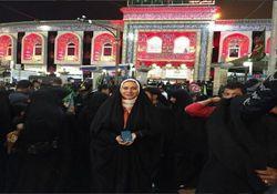 بازیگر زن در پیاده روی اربعین+ عکس