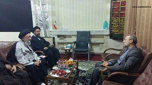 دیدار آیت الله نور مفیدی با رییس مجلس شورای اسلامی در قم+عکس