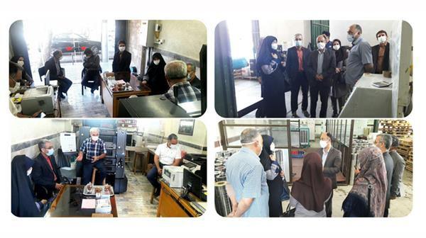 بازدید مدیرکل فرهنگ و ارشاد اسلامی گلستان از دو واحد صنفی چاپی در گرگان و آق قلا