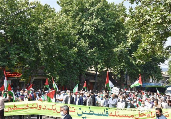 تجمع خودجوش مردم گرگان در حمایت از ملت مظلوم فلسطین برگزار شد