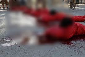 فیلم / اعدام مردان اهل سنت توسط داعش