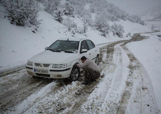 محدودیت تردد در توسکستان به علت یخبندان /تردد در خوش ییلاق با زنجیر چرخ