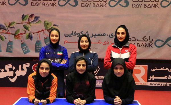 درخشش ورزشکاران گلستانی در مرحله اول انتخابی تیم ملی پینگ پنگ زنان