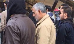 تصویر سردار قاسم سلیمانی در راهپیمایی صبح امروز 22 بهمن