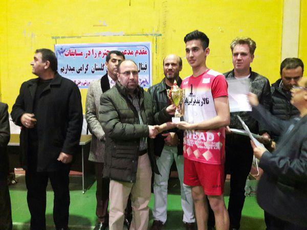 گنبدکاووس قهرمان لیگ والیبال نوجوانان گلستان