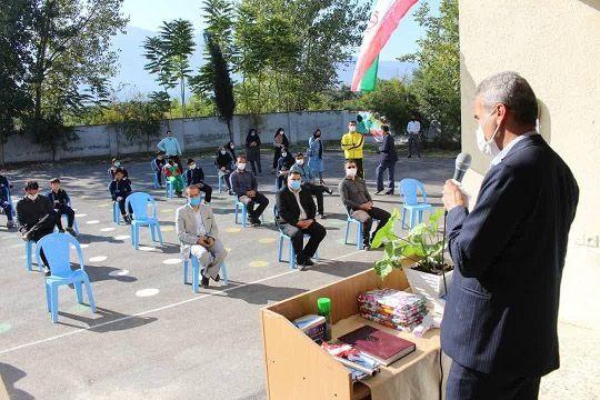 افتتاح کلاس درس تربیت بدنی در دبیرستان شهید مازندرانی کردکوی