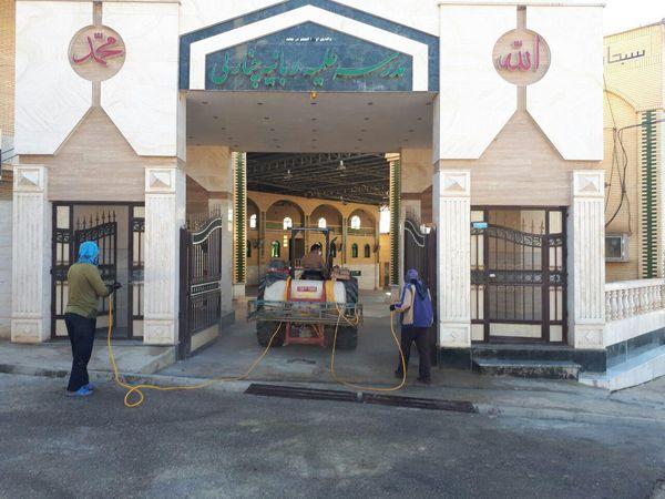 ضدعفونی کردن روستای چنارلی/تصاویر
