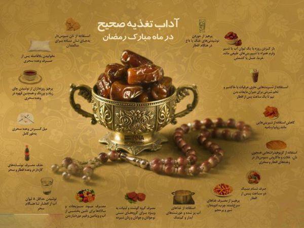 آداب تغذیه صحیح در ماه رمضان
