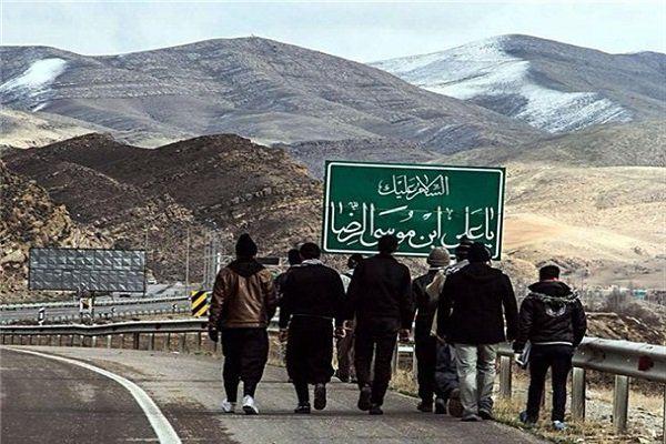 خدمات رسانی ۱۶ پایگاه هلال احمر گلستان به زائران پیاده رضوی