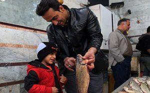بازار ماهی فروشان گرگان در آستانه ماه رمضان+گزارش تصویری