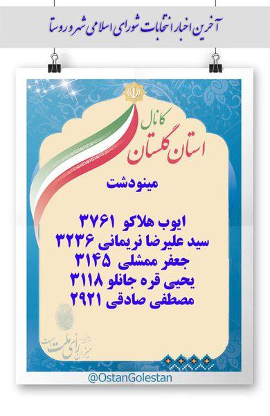 نتایج نهایی انتخابات شورای شهر مینودشت